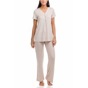 Vamp - Dámské pyžamo 12210 - Vamp beige peach s