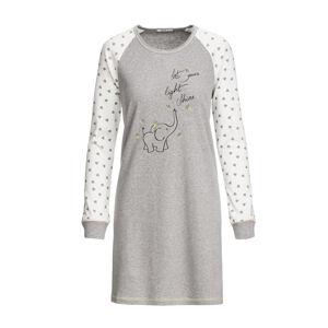 Vamp - Dámská pohodlná noční košile GRAY MELANGE M 13554 - Vamp