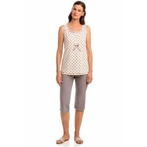 Vamp - Pohodlné dvoudílné dámské pyžamo 14303 - Vamp pink vanilla xl