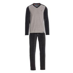 Vamp - Pánské sametové pyžamo 13761 - Vamp anthracite melange m