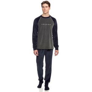 Vamp - Pohodlné dvoudílné pánské pyžamo 15755 - Vamp blue blazer xxl