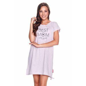 Mateřská noční košile Best mom růžový melír  M