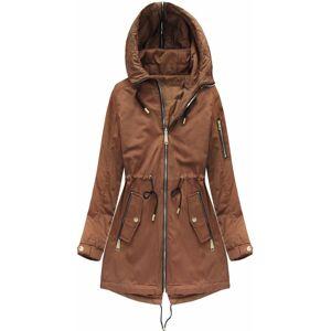 Oboustranná bunda v karamelové barvě s kapucí (W636BIG) hnědý 52