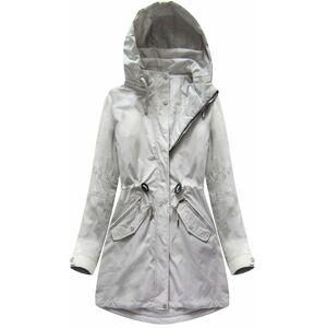 Oboustranná šedá bunda s kapucí (W0229) Šedá XXL (44)