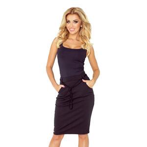 Černá sukně s kapsami a šňůrkou model 4976726 M