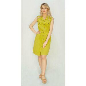 Košilové šaty v citronové barvě (397ART) žlutá ONE SIZE