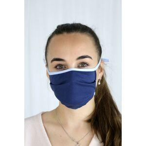 Tmavě modrá se světlým lemem dvouvrstvá hygienická rouška