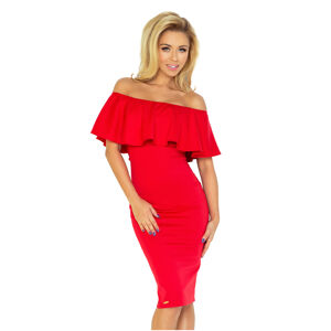 Červené šaty s volánkem model 4977157 M