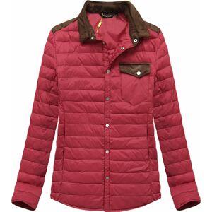 Červená prošívaná bunda s límcem (X69LJX) červená M
