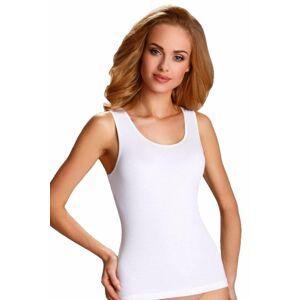 Bílá spodní košilka Clarissa s širokými ramínky  L