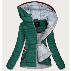 Zelená dámská prošívaná bunda se vsadkami (7242) zelená XL (42)