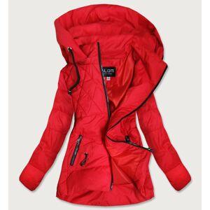 Červená dámská asymetrická bunda (905) červená 48