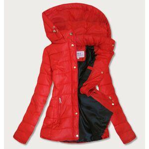 Červená dámská prošívaná bunda (W351) Červené XXL (44)
