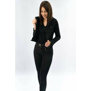 Černá dámská džínová bunda (5651-K) Černá XS (34)
