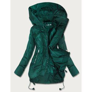 Zelená trapézová dámská bunda (959) Zelený 54