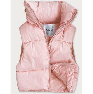 Krátká růžová dámská vesta (3360) růžový L (40)