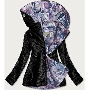 Černá dámská bunda s ozdobnou podšívkou (MM21) vícebarevný 48