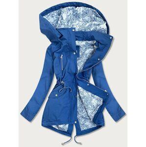 Bavlněná dámská bunda parka v chrpové barvě (5559) modrý L (40)