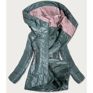 Dámská bunda v khaki barvě s ozdobnými kapsami (7731) khaki 46