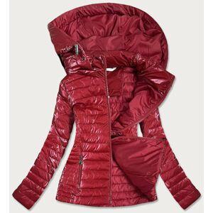 Červená lesklá dámská bunda (6815) červená S (36)