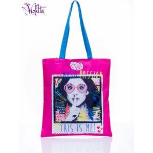 Fialová růžová nákupní taška pro dívky