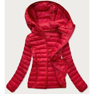 Červená prošívaná dámská bunda (20313) czerwony L (40)