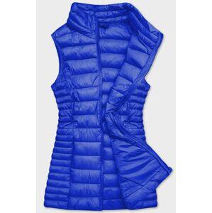 Prošívaná dámská vesta v chrpové barvě (23038-185) modrý S (36)