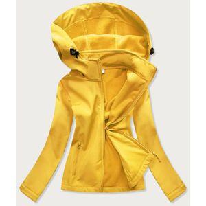 Žlutá dámská trekingová bunda-mikina (HH018-26) Žlutá S (36)