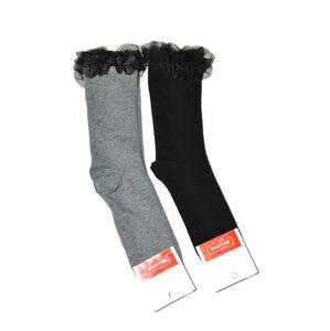 Dámské ponožky Milena Tylový volánek 1030 tmavě šedá 37-41