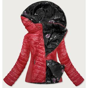 Červená prošívaná oboustranná dámská bunda (RQW-6843) czerwony 46