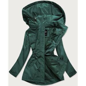 Zelená dámská bunda parka (RQW-6852) zielony S (36)