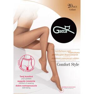 Dámské punčochové kalhoty Gatta Comfort Style 20 den 5-XL zlatá / epizodabéžový 5-XL
