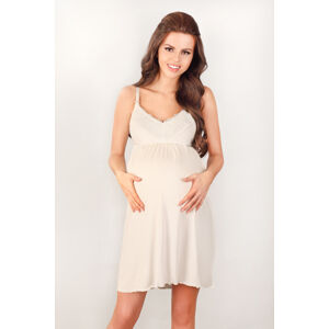Dámská těhotenská noční košilka Lupoline 3022 K okrová S
