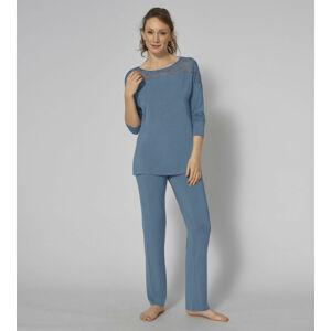 Dámské pyžamo Amourette PK LSL 01 - BLUE SNOW - TRIUMPH BLUE SNOW - TRIUMPH BLUE SNOW 38