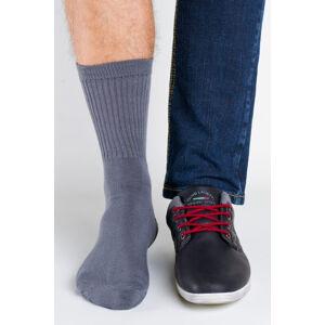Pánské ponožky Regina Socks Polofroté Bambus tmavě šedá 43-46