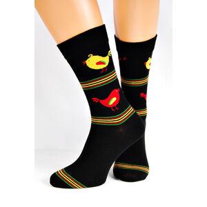 Pánské ponožky Regina Socks 7844 Avangarda Slepice šedá 39-42