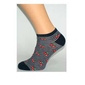 Dámské vzorované ponožky Bratex 0242 růžová 39-41