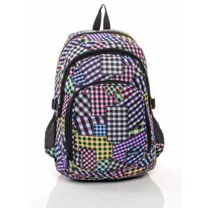 Školní batoh s barevným kostkovaným vzorem ONE SIZE