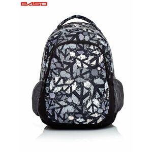 Černý školní batoh s městským potiskem ONE SIZE