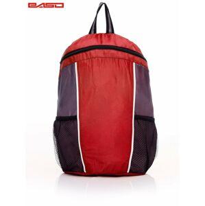 Dětský červený školní batoh s kontrastními moduly .
