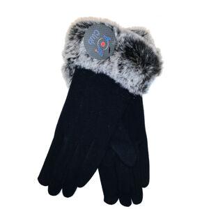 Dámské rukavice YO! R-141 S kožíškem