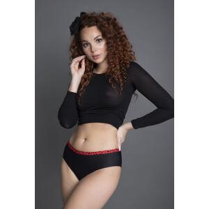 Dámské kalhotky Julimex Beltie Amore černá-červená XL