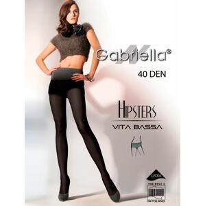 Dámské punčochové kalhoty Hipsters code 115 40DEN (6 Colours) - Gabriella  graphite 2-S