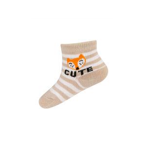 Ponožky Soxo 76884 ABS, s nápisy růžová 14-15