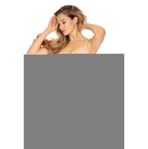 Polovyztužená dámská podprsenka semi-soft Gaia BS 926 Olimpia perlově šedá 75I