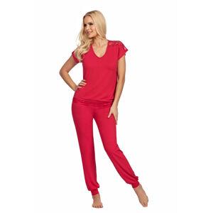 Dámské pyžamo Donna Lena pudrově růžová XXL