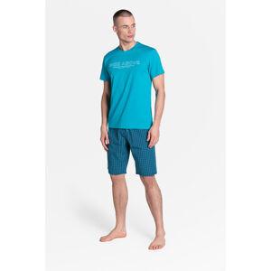 Pánské pyžamo Henderson 38883 Dojo kr/r M-3XL černá 3XL