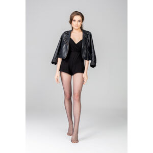 Dámské punčochové kalhoty Mona Anytime Dots 13 den 5 XL černá 5-XL