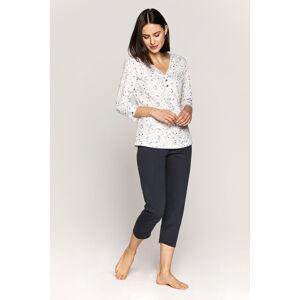 Dámské pyžamo Cana 555 3/4 S-XL bílá-šedá L