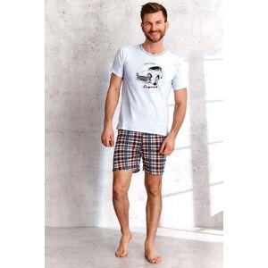 Pánské pyžamo Taro Szymon 2086 kr/r S-2XL L'21 modrá žíhaná XL